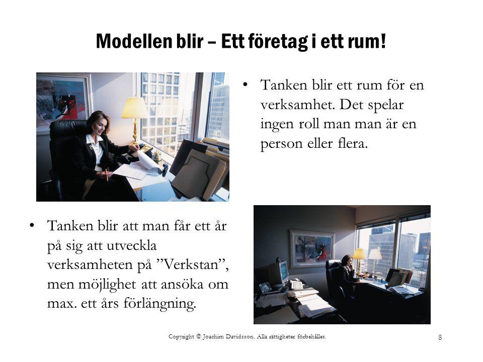 Modellen blir – Ett företag i ett rum!