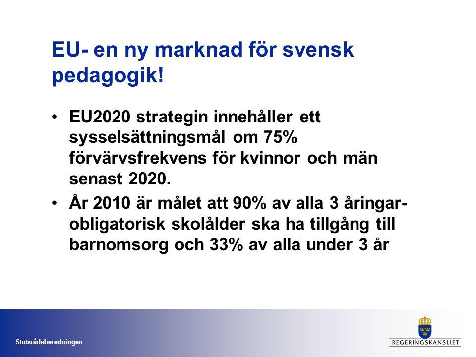 EU- en ny marknad för svensk pedagogik!