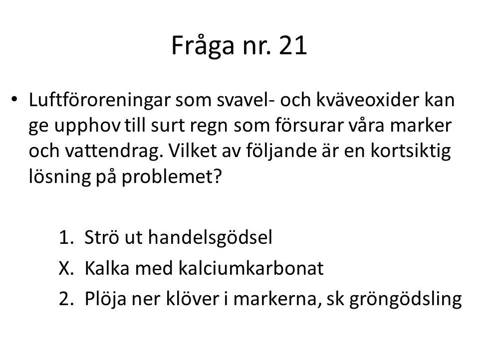 Fråga nr. 21