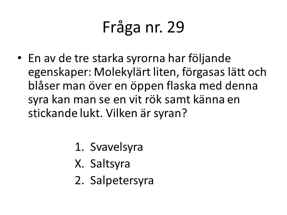 Fråga nr. 29