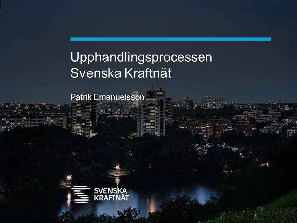 Upphandlingsprocessen Svenska Kraftnät