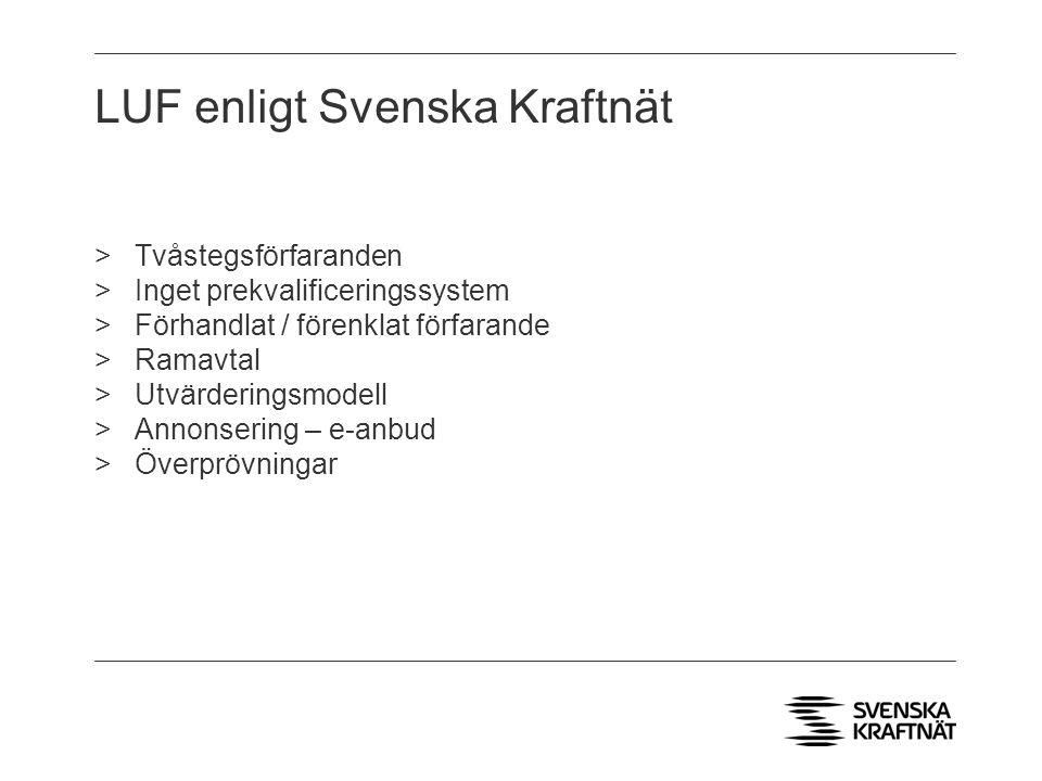 LUF enligt Svenska Kraftnät