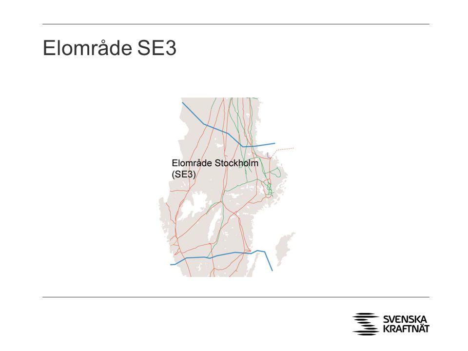 Elområde SE3 > Fyra DC förbindelser till Finland och Danmark, en AC förbindelse till Norge. > 75% kärnkraftproduktion.