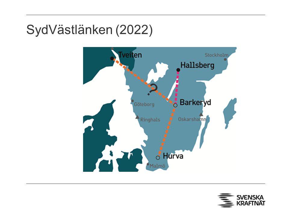 SydVästlänken (2022) . Statnett vill skjuta västra grenen bortåt i tiden.