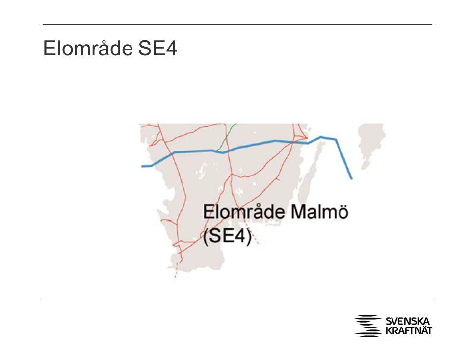Elområde SE4 > Två AC förbindelser till Danmark, två DC förbindelser till Tyskland och Polen. > Underskottsområde.