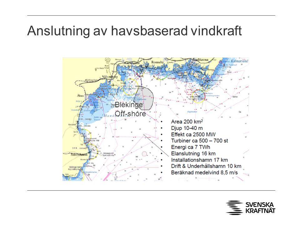 Anslutning av havsbaserad vindkraft