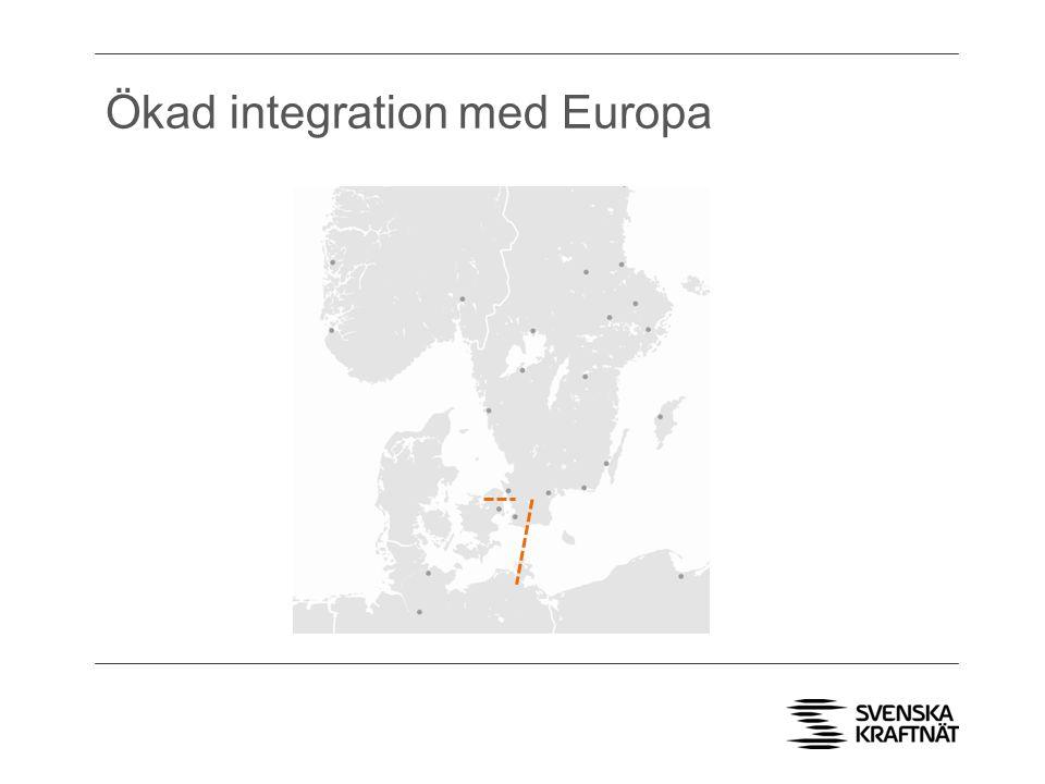 Ökad integration med Europa