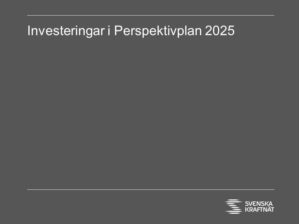 Investeringar i Perspektivplan 2025