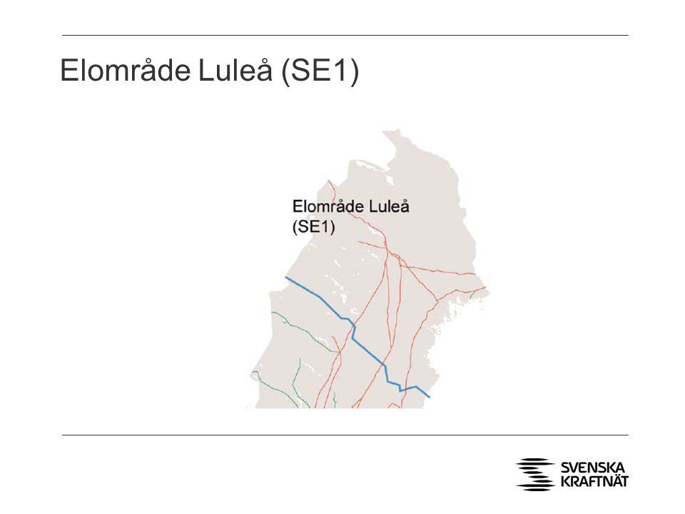 Elområde Luleå (SE1) > Fyra AC förbindelser till Norge och Finland