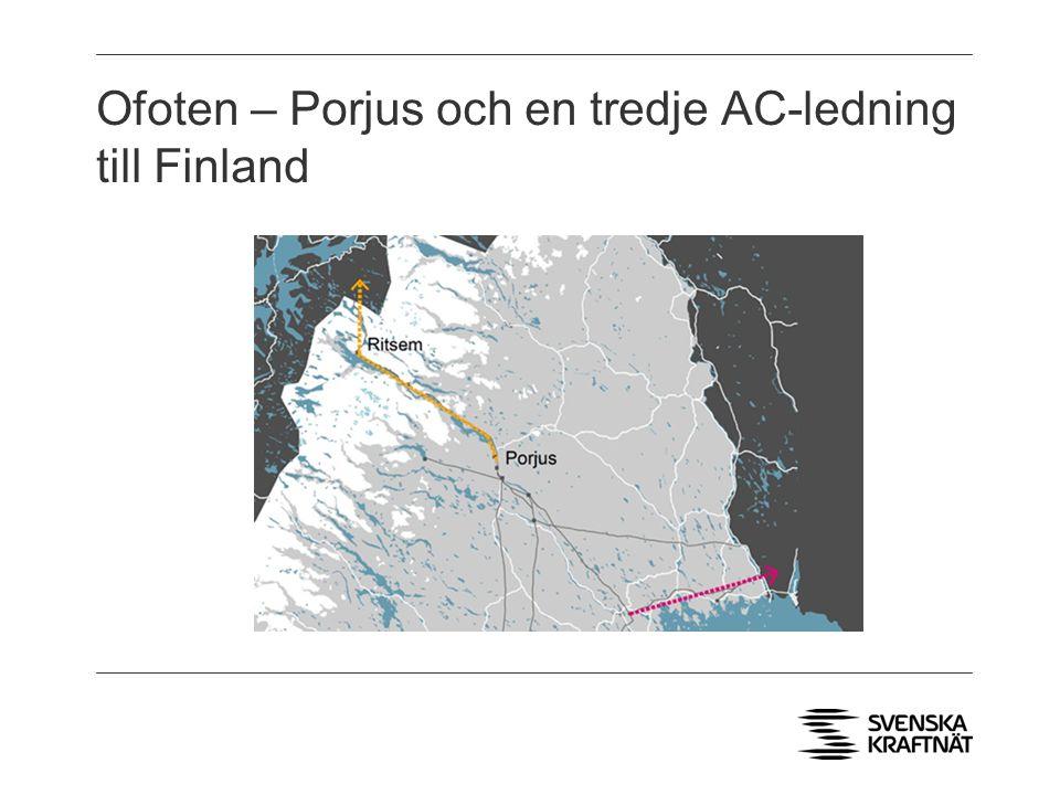 Ofoten – Porjus och en tredje AC-ledning till Finland