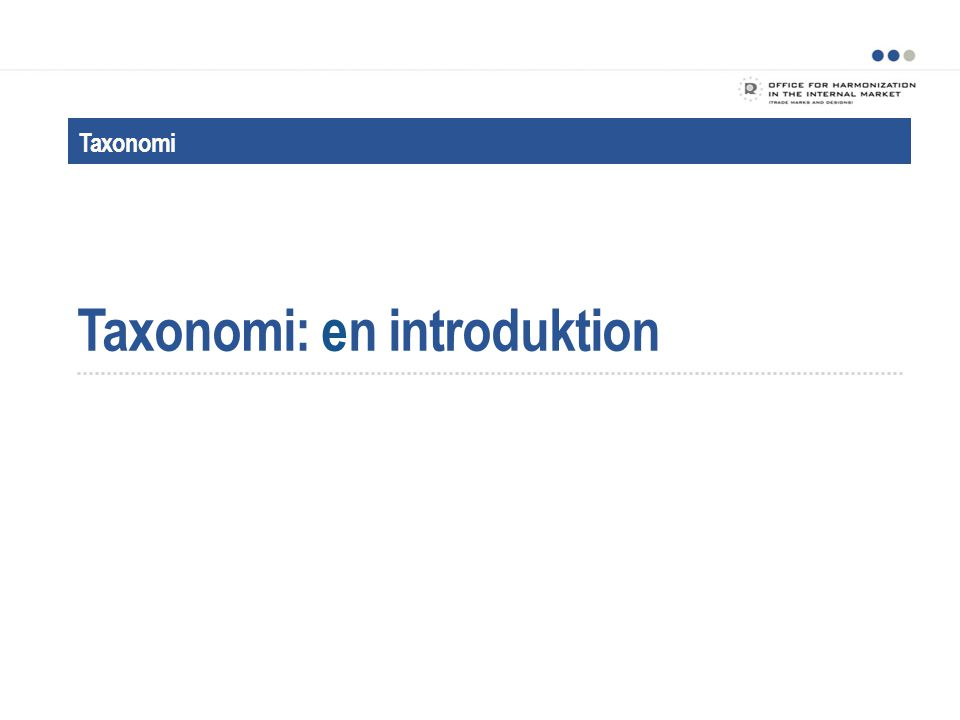 Taxonomi: en introduktion