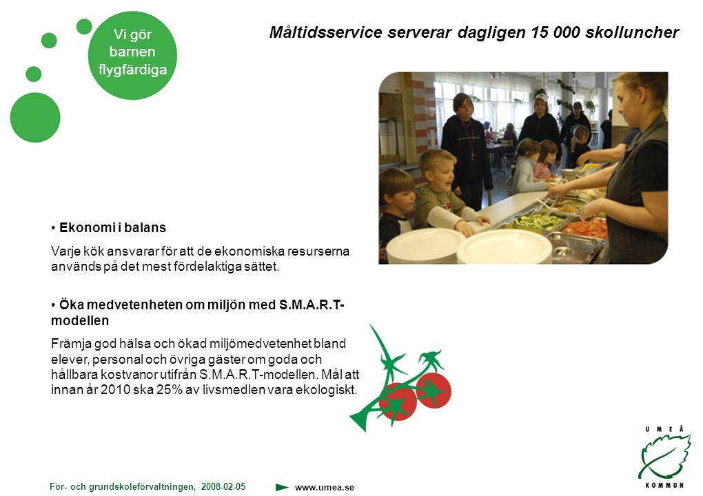 Måltidsservice serverar dagligen 15 000 skolluncher