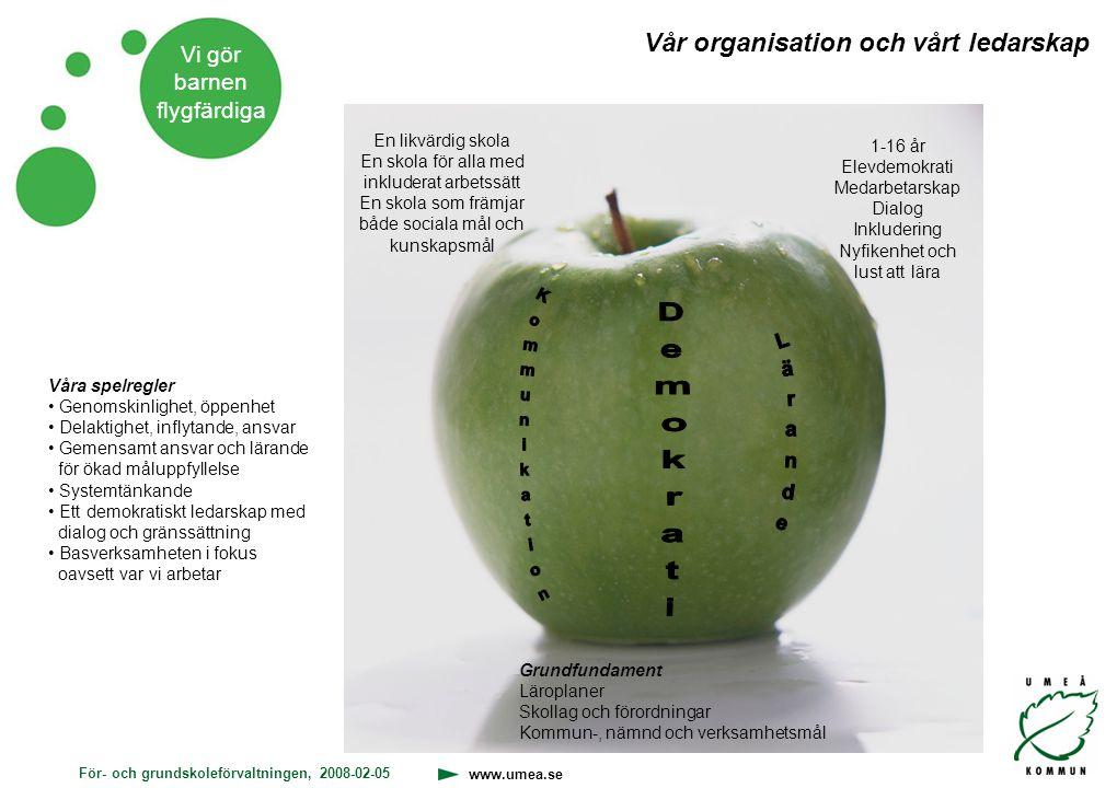 Demokrati Kommunikation Vår organisation och vårt ledarskap