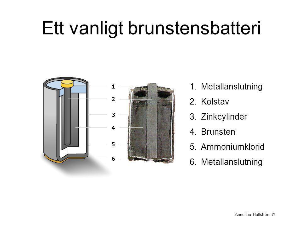 Ett vanligt brunstensbatteri