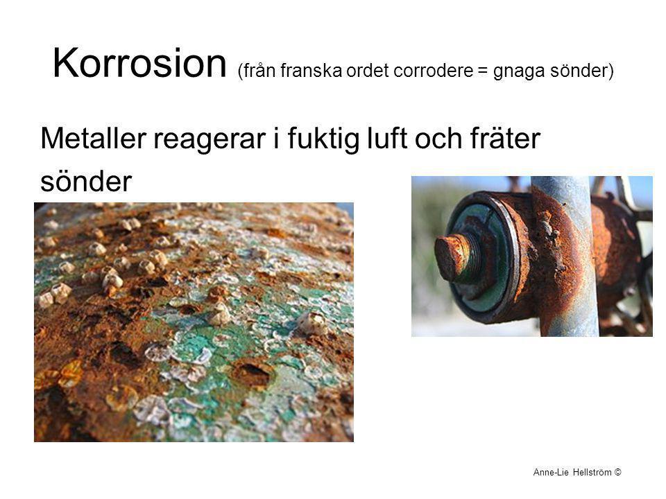 Korrosion (från franska ordet corrodere = gnaga sönder)