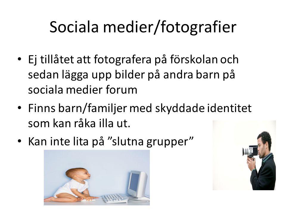 Sociala medier/fotografier