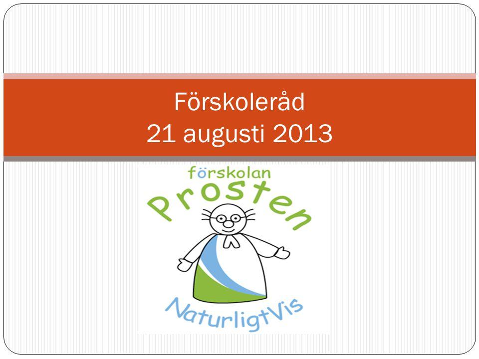 Förskoleråd 21 augusti 2013