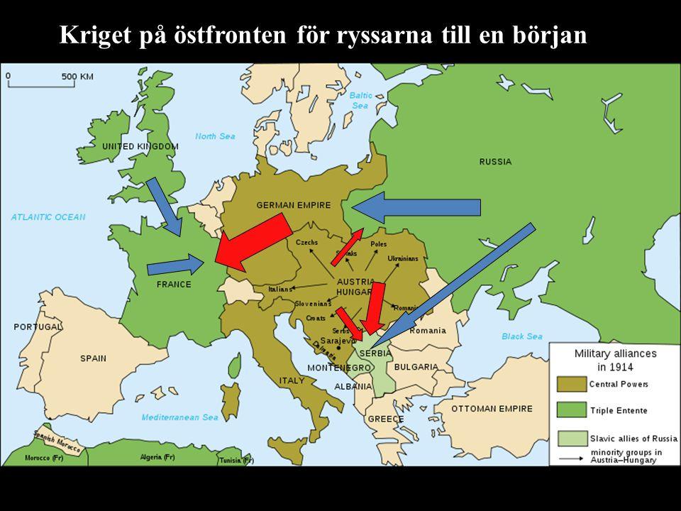 Kriget på östfronten för ryssarna till en början