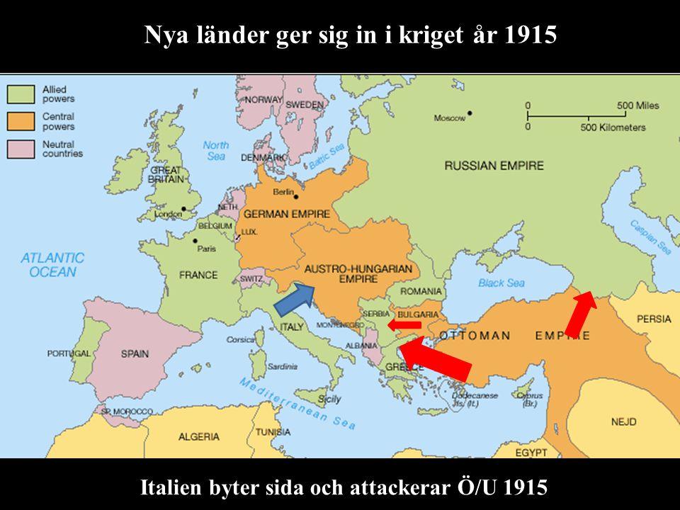 Nya länder ger sig in i kriget år 1915