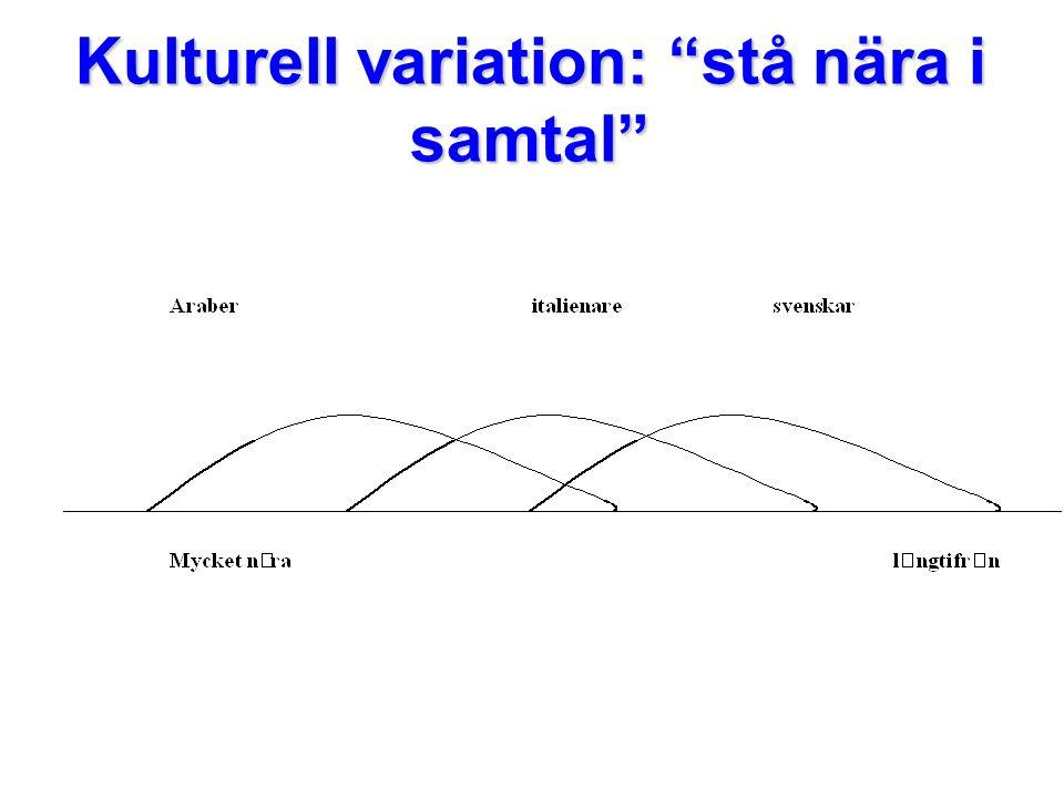 Kulturell variation: stå nära i samtal