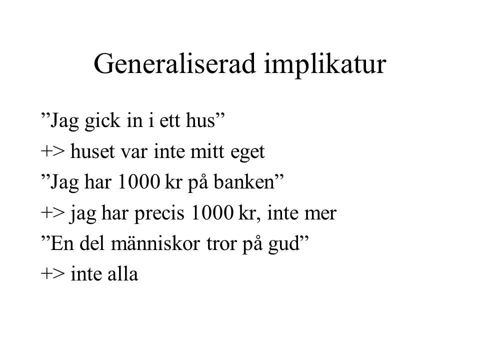 Generaliserad implikatur