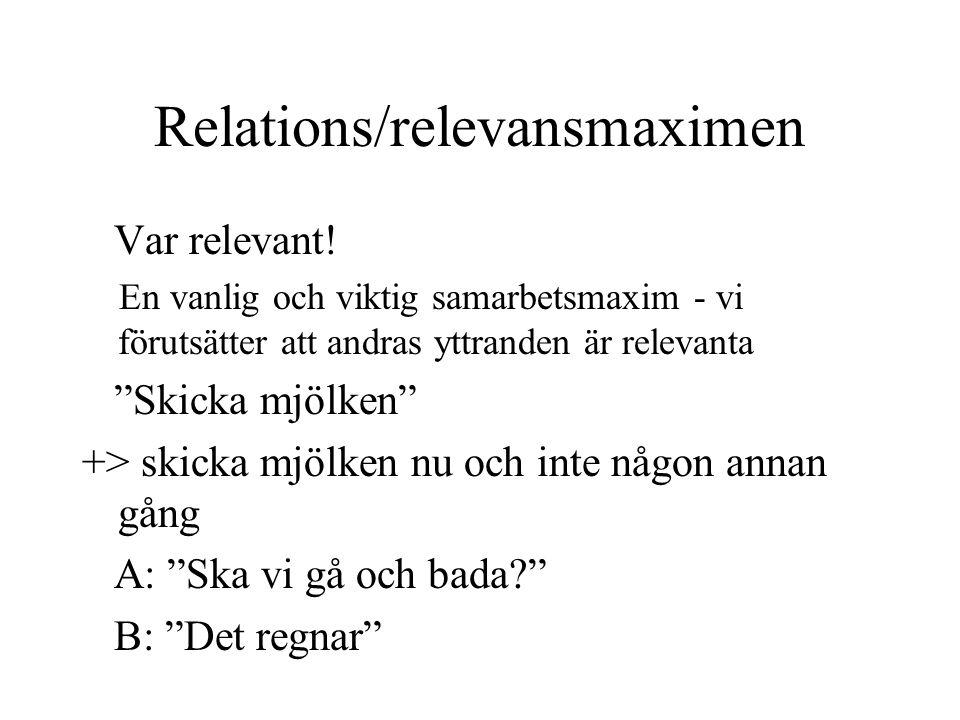 Relations/relevansmaximen