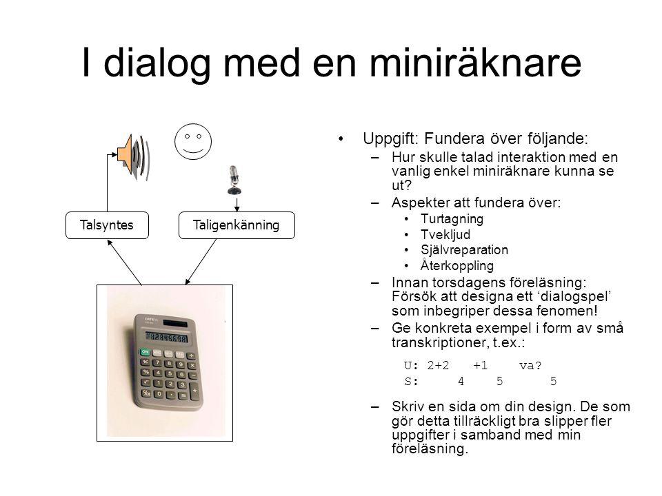 I dialog med en miniräknare