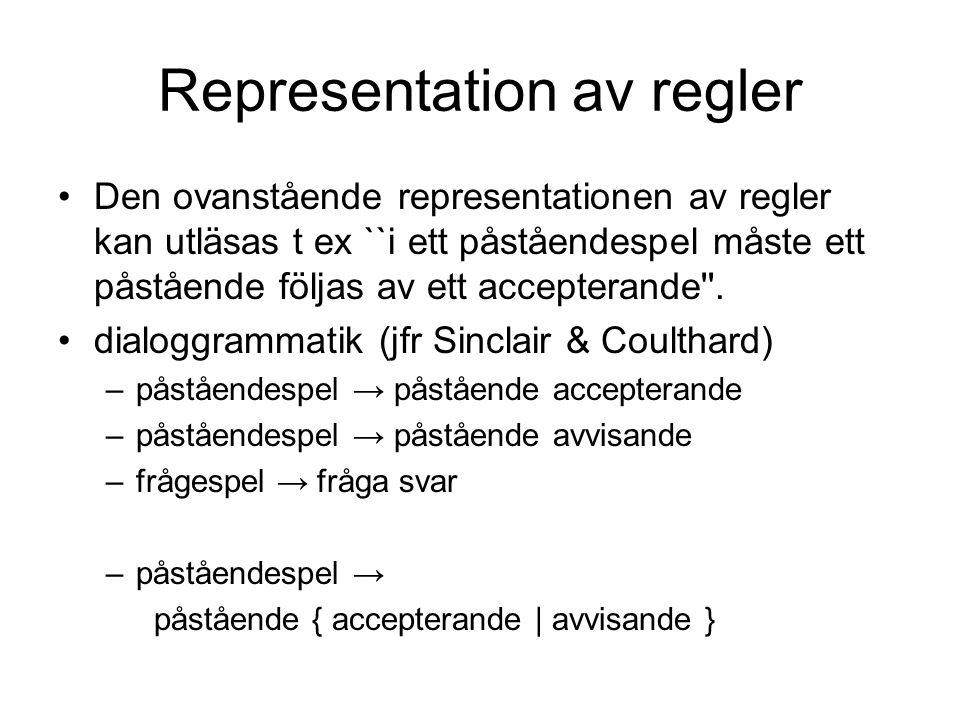 Representation av regler