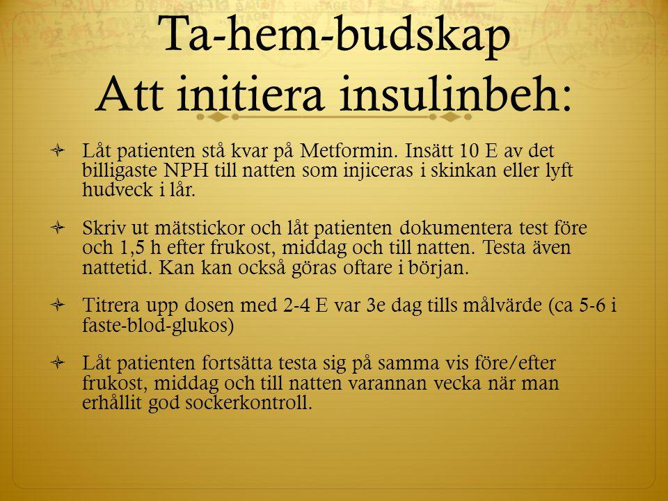 Ta-hem-budskap Att initiera insulinbeh: