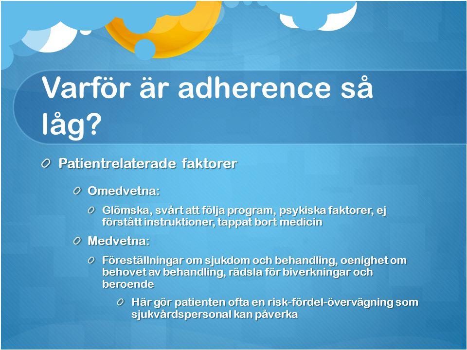 Varför är adherence så låg
