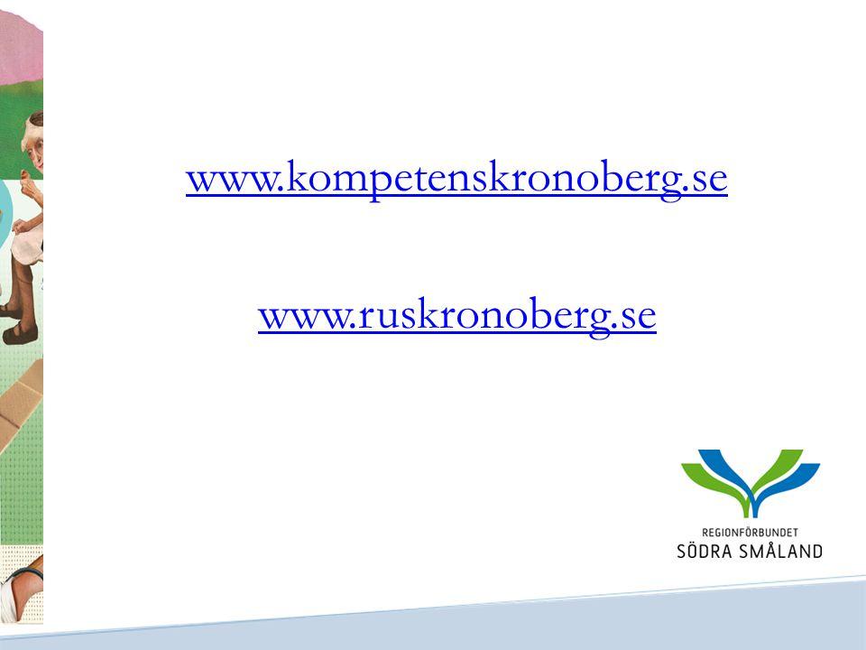 www.kompetenskronoberg.se www.ruskronoberg.se