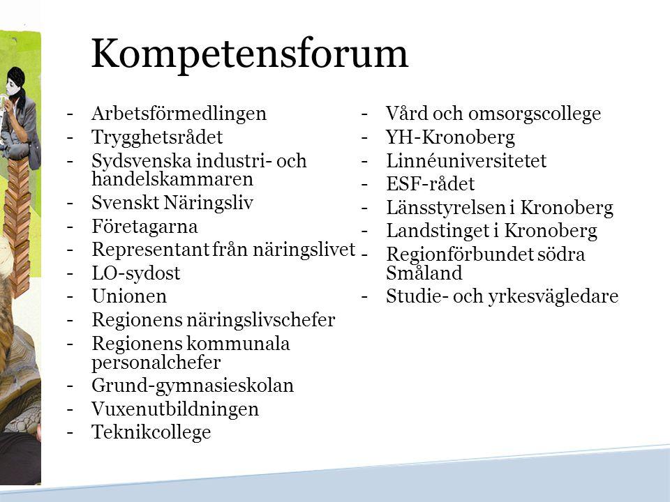 Kompetensforum Arbetsförmedlingen Vård och omsorgscollege