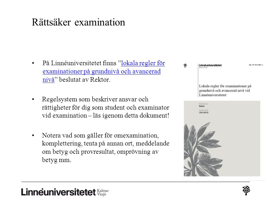 Rättsäker examination