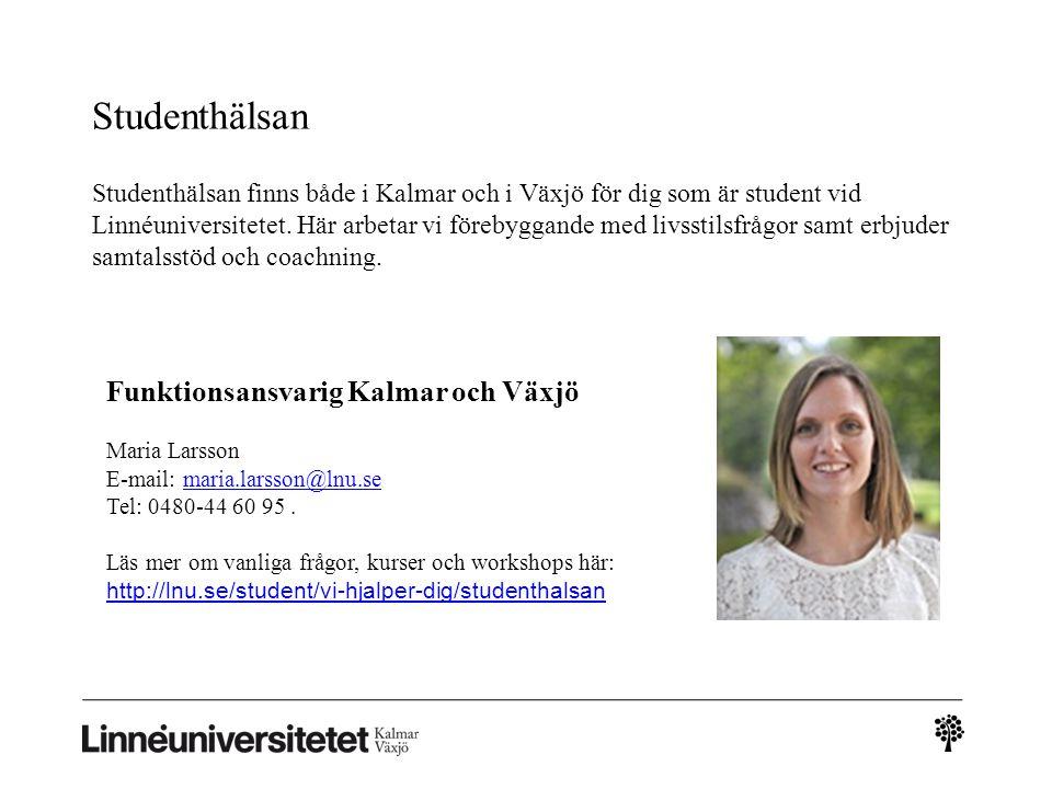 Studenthälsan Funktionsansvarig Kalmar och Växjö