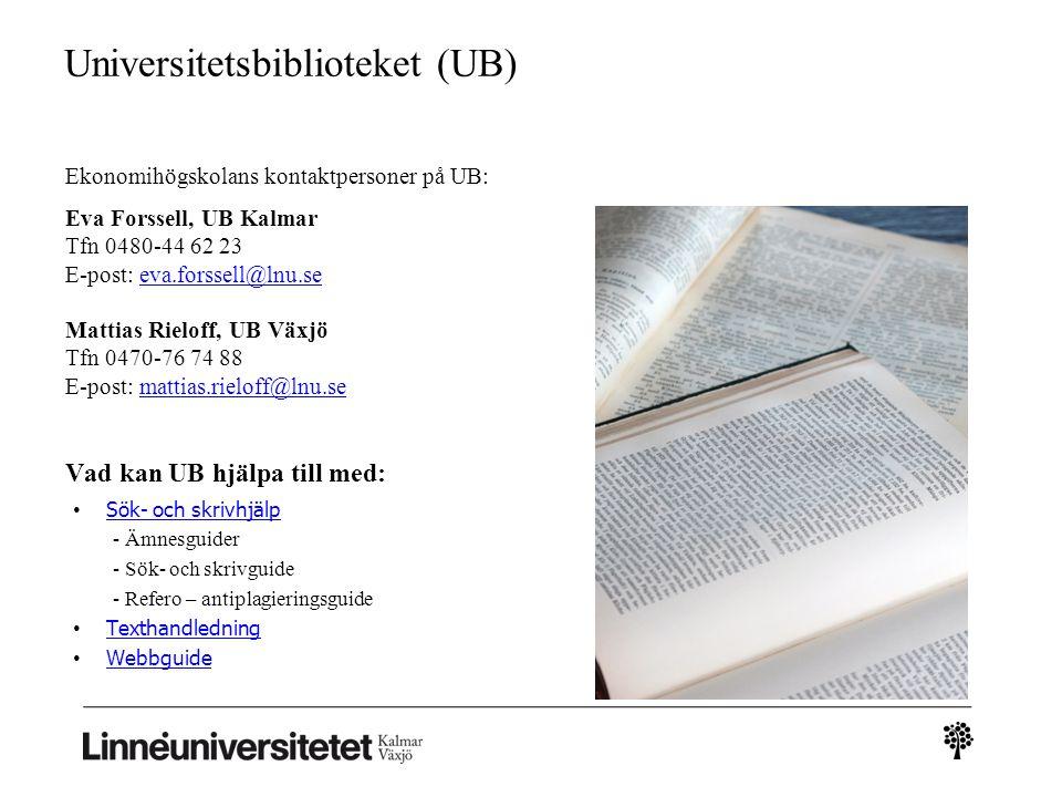 Universitetsbiblioteket (UB)