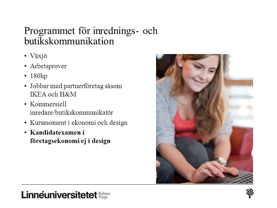 Programmet för inrednings- och butikskommunikation