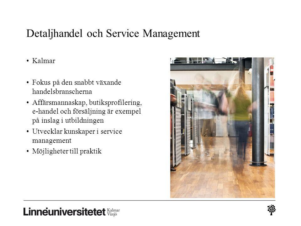 Detaljhandel och Service Management