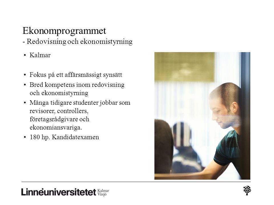 Ekonomprogrammet - Redovisning och ekonomistyrning