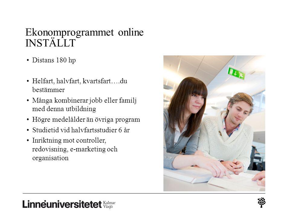 Ekonomprogrammet online INSTÄLLT