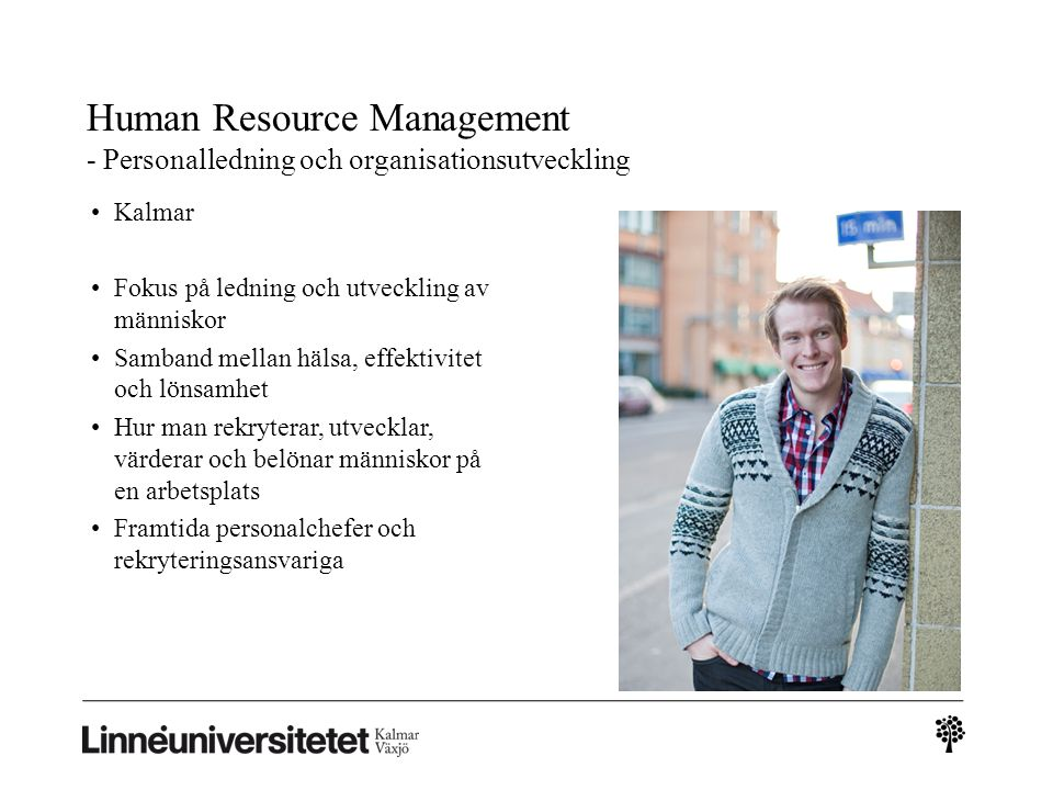 Human Resource Management - Personalledning och organisationsutveckling