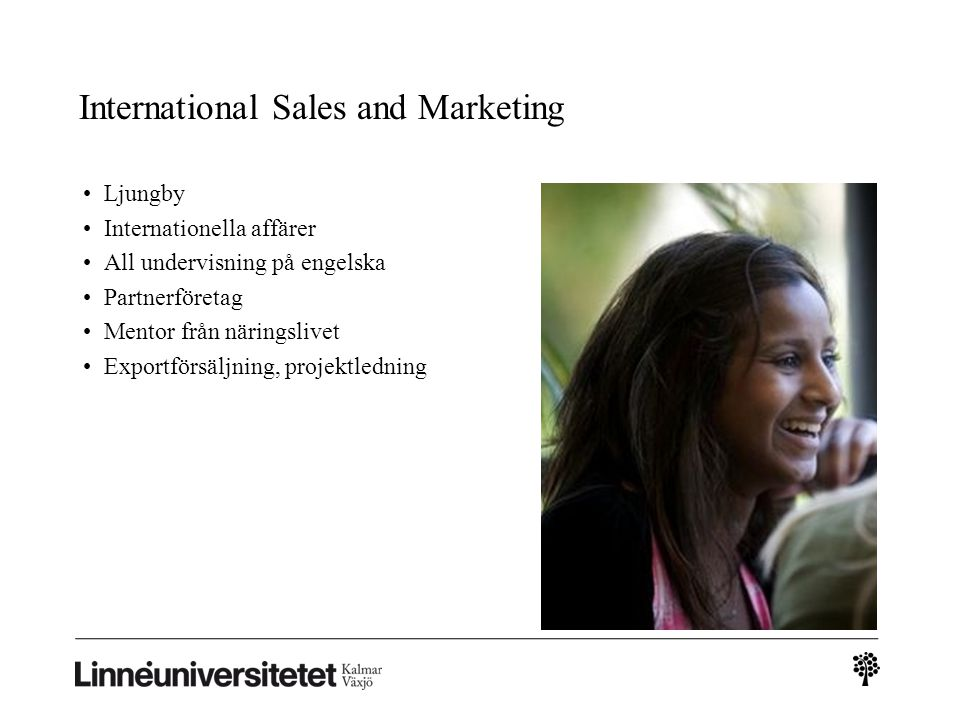 International Sales and Marketing