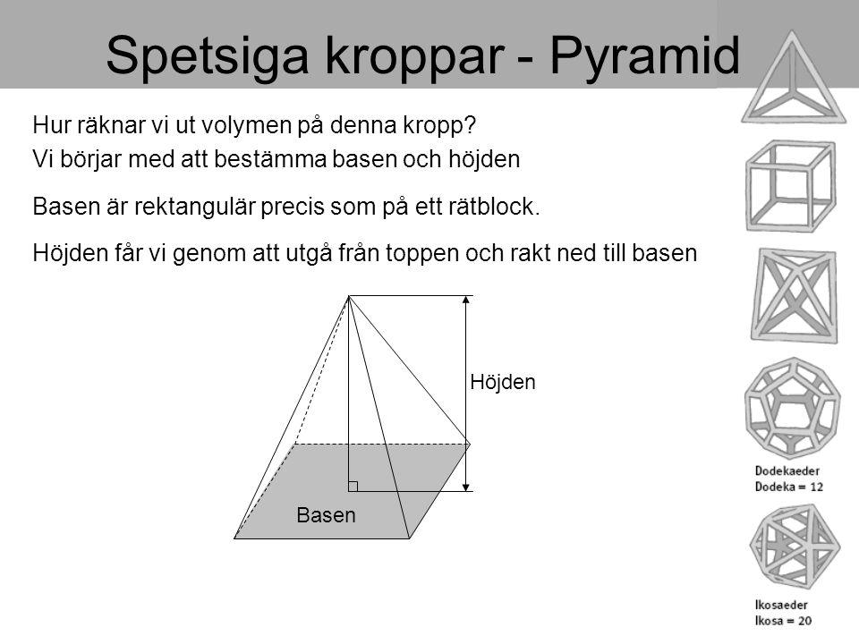 Spetsiga kroppar - Pyramid