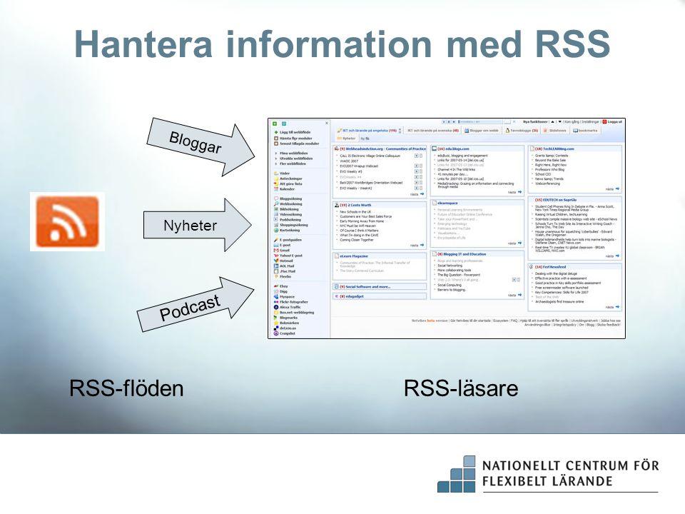 Hantera information med RSS