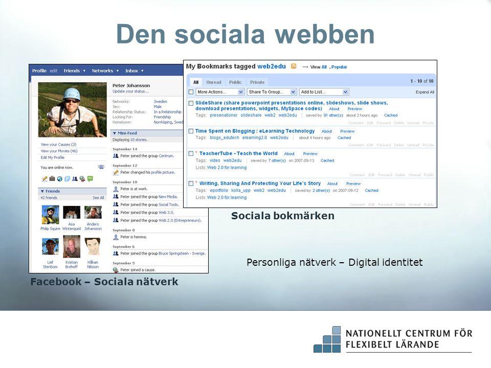 Den sociala webben Sociala bokmärken
