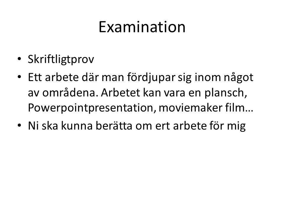 Examination Skriftligtprov