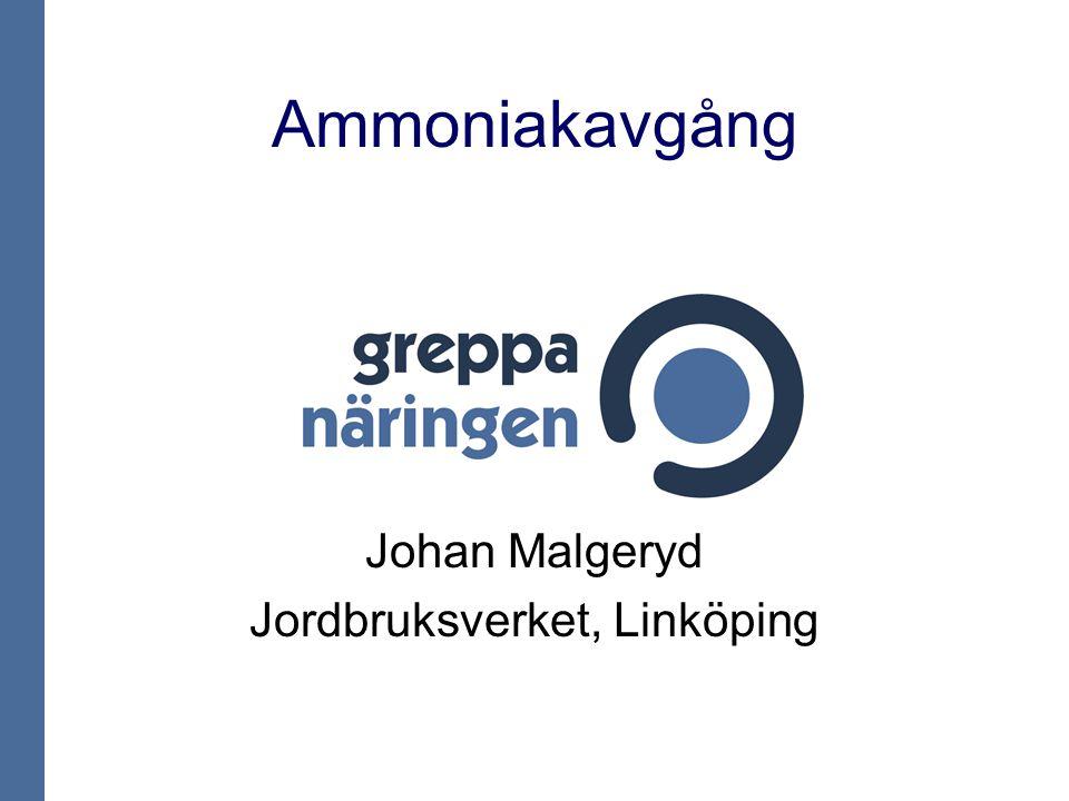 Johan Malgeryd Jordbruksverket, Linköping