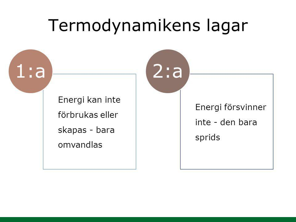 Termodynamikens lagar