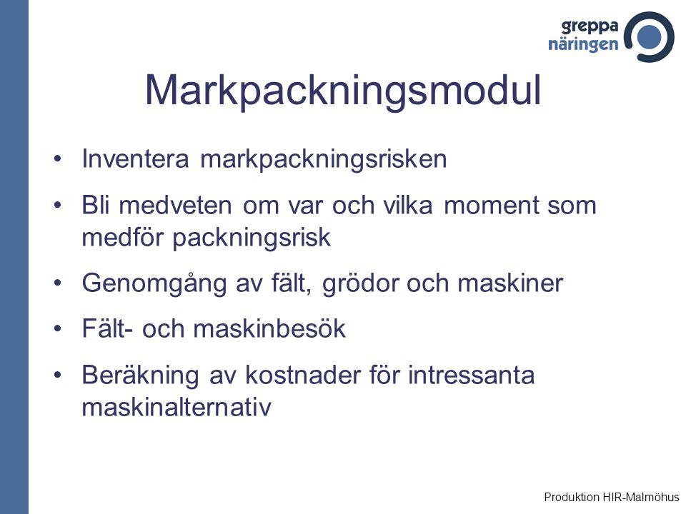 Markpackningsmodul Inventera markpackningsrisken