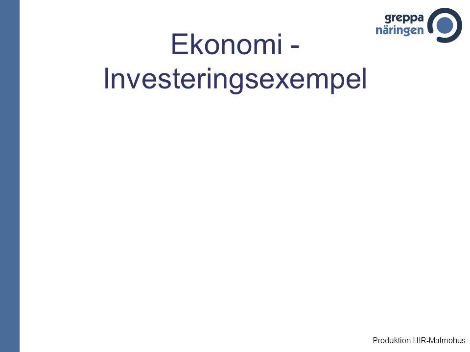 Ekonomi -Investeringsexempel