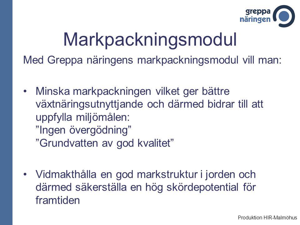 Markpackningsmodul Med Greppa näringens markpackningsmodul vill man:
